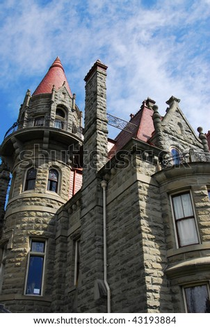 The historic craigdarroch castle (built in 1890) in downtown victoria, british columbia, canada