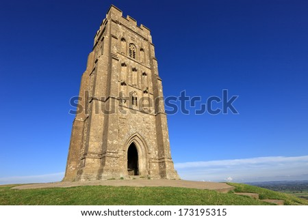 The historic Glastonbury Tor in Somerset, England, United Kingdom (UK)
