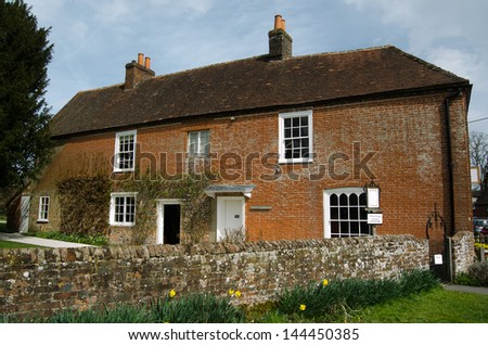 The historic home of novelist Jane Austen in the village of Chawton, Hampshire. Now open to the public as a museum. - stock photo