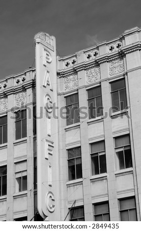 the historic pacific bldg in hollywood - stock photo