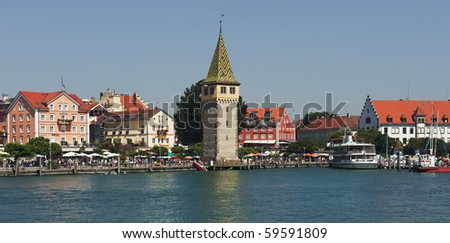 "The historic port of ""Lindau"" in Bavaria"