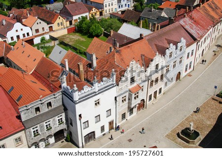 The historic small town South Bohemia