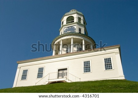 The historic Town Clock, Halifax. Nova Scotia, Canada. - stock photo