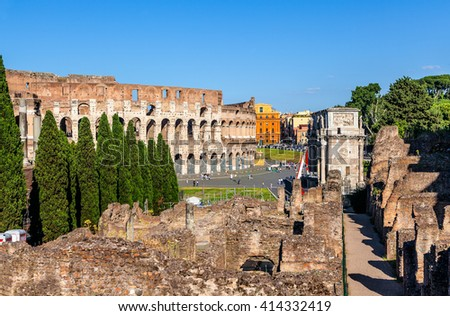 The historical center of Rome. - stock photo
