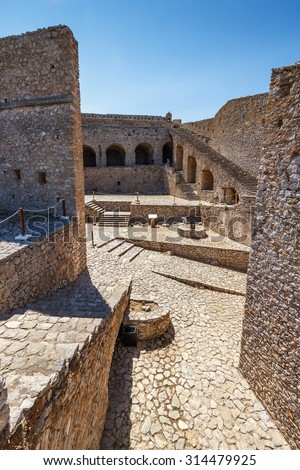 The historical Palamidi Fortress in Nafplion, Argolis - Greece - stock photo