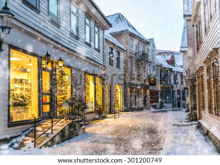 The historical part of the city. Bergen, Norway - stock photo