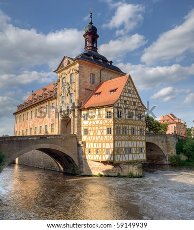 The historical town hall of Bamberg, Germany - stock photo