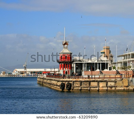 The Historical Waterfront Clock Tower in Cape Town - stock photo
