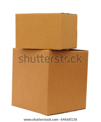 the holiday size boxes on delivery - stock photo