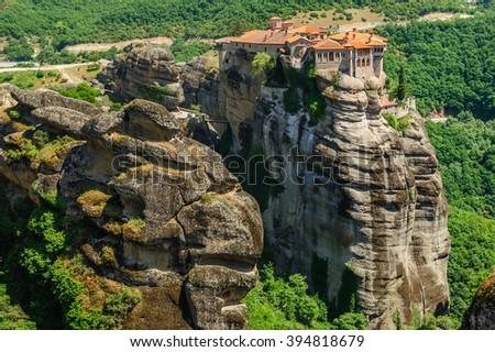 The holly monastery of Varlaam, Meteora, Greece - stock photo