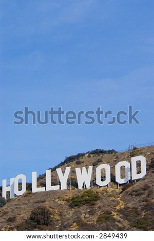 the hollywood sign - stock photo
