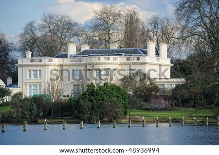 The Holme, a beautiful Grade I listed Regency villa in Regent's Park, London, England, UK, originally designed in 1816-18 by Decimus Burton. - stock photo