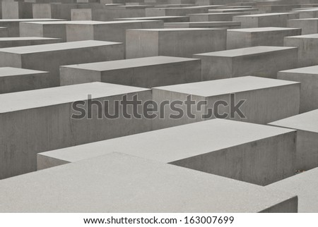 the holocaust memorial in Berlin, Germany - stock photo