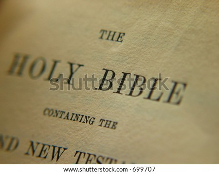 The Holy Bible - stock photo