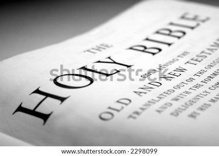 the holy bible close up - stock photo