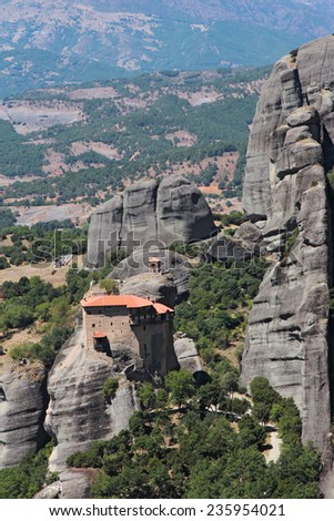 The Holy Monastery of St. Nicholas Anapausas - stock photo