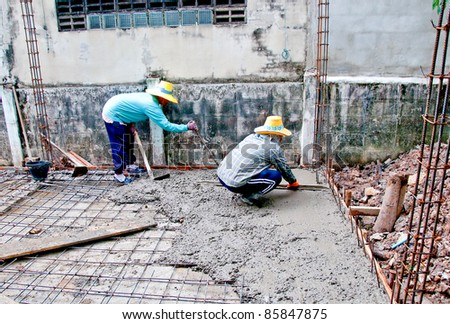 The Home renovation work under construction - stock photo