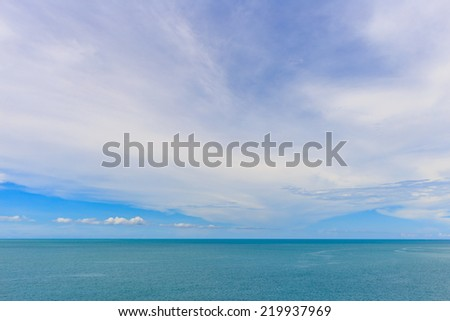 The horizon of the sea & blue sky background. - stock photo