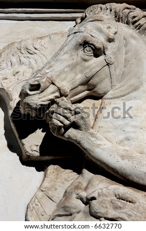 The horse and the man - stock photo