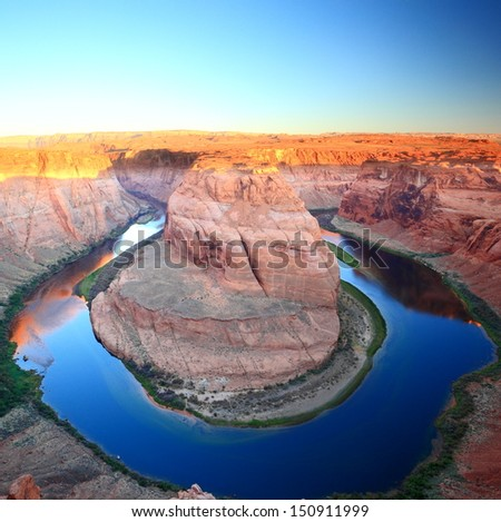 the horseshoe bend near Page, Arizona