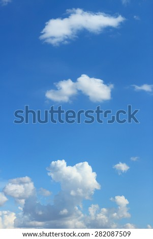 the hot air high up to the sky and made cumulus clouds in a very hot day - stock photo