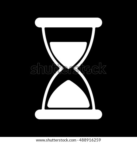The hourglass icon. Chronometer and timer, clock symbol. Flat  illustration