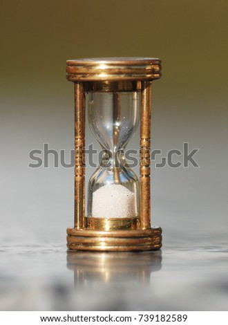 The hourglass shows that the time is up