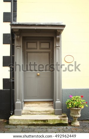 The house door style scene represent the house decoration concept related idea.
