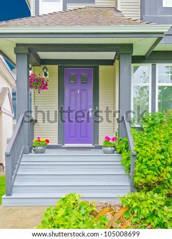The house entrance - stock photo