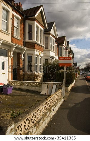 the house for sale - stock photo