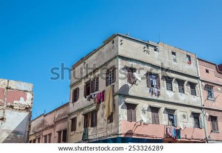 The house in the new Medina. Casablanca, Morocco - stock photo