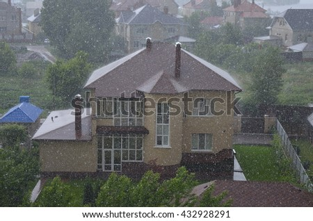 the house in the rain