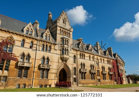 The house of Christ Church College, Oxford University, UK - stock photo