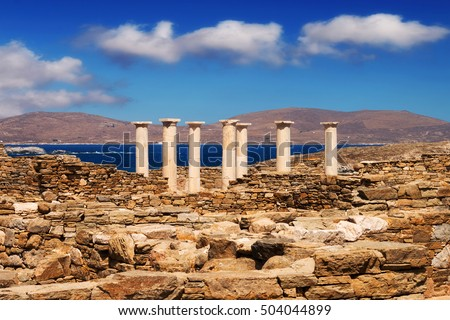 The House of Dionysus on Delos island, Greece