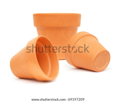 the houseplant pots on Gardening - stock photo