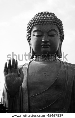 The Huge Buddha statue - stock photo