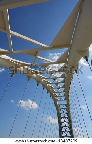 The Humber Bay Arch Bridge in Toronto, Canada. - stock photo