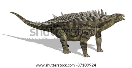 The Hungarosaurus lived during the Cretaceous period in Hungary - 3D render.