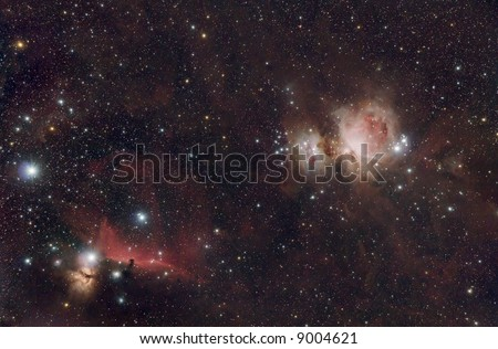 The Hunter Orion Constellation - stock photo