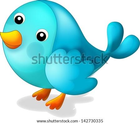 The icon of a bird - cartoon illustration - stock photo