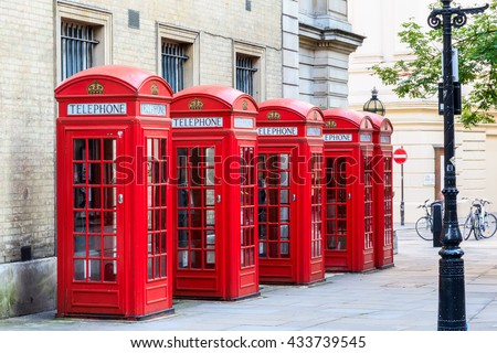 The iconic red telephone booths on Broad Court, Covent Garden, London - stock photo