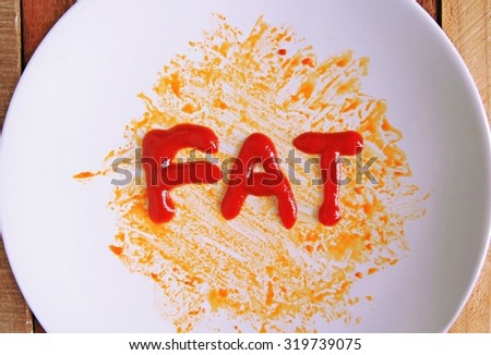 The idea is to eat foods that contain too much fat makes us fat. - stock photo