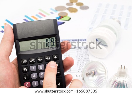 The idea of saving energy and money - stock photo