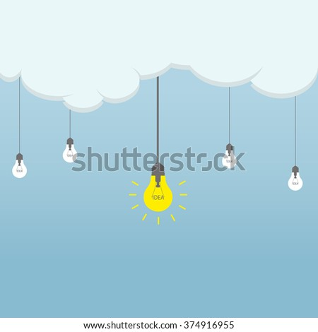 the idea of the cloud. business project. - stock photo