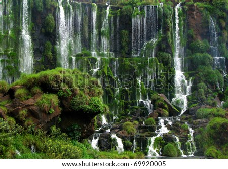 The Iguassu Falls - stock photo