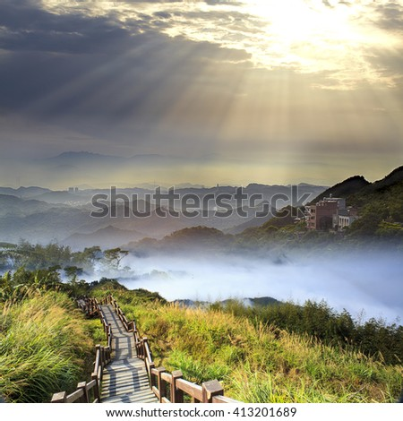The imaaging of beautiful landscape with nice nature color - stock photo