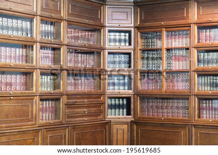 the image of a bookcase - stock photo