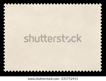 The image of a clear stamp on a black background. - stock photo
