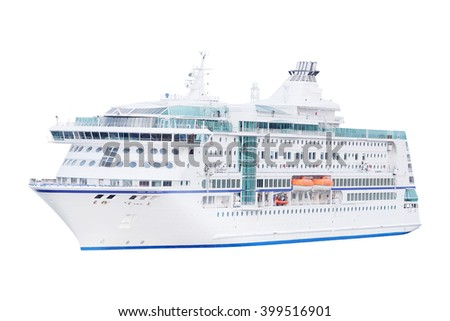 The image of a cruise ship - stock photo