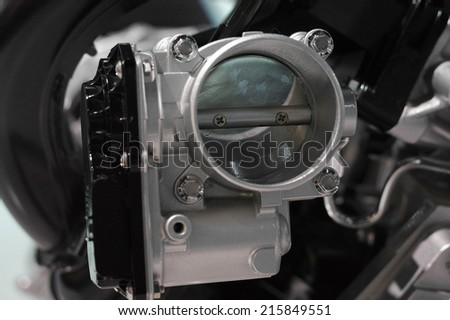 the image of a gasolene-throttle - stock photo